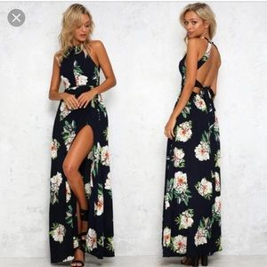 Dresses & Skirts - Cupshe navy floral maxi